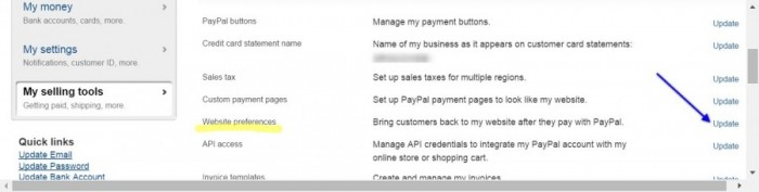 Paypal-phone-required-website-preferences