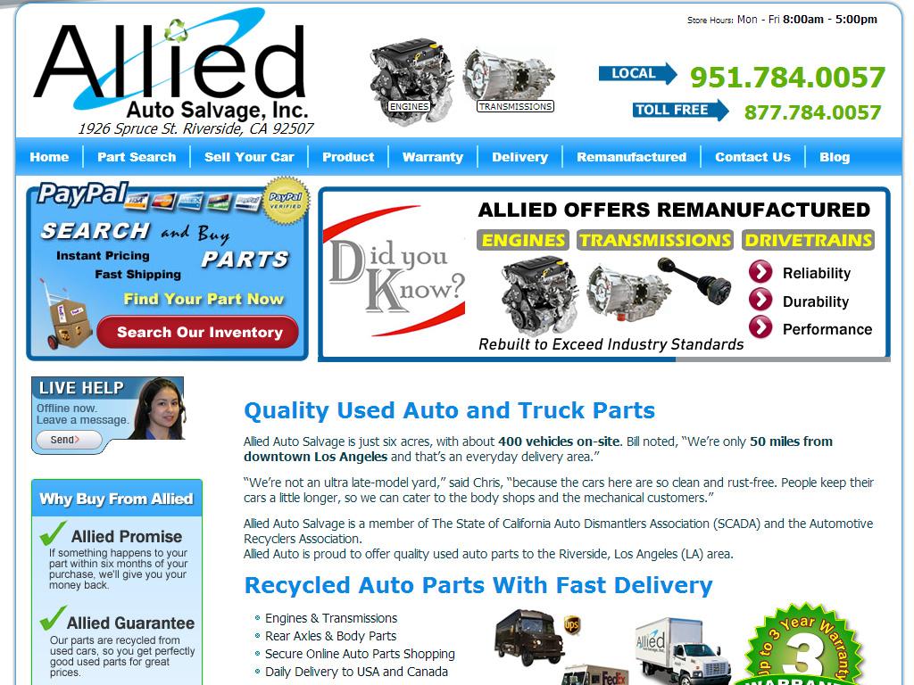 Riverside Auto Salvage >> Allied Auto Salvage Briscoweb