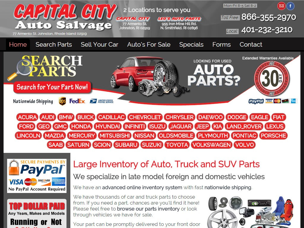 Capital City Auto >> Capital City Salvage Briscoweb