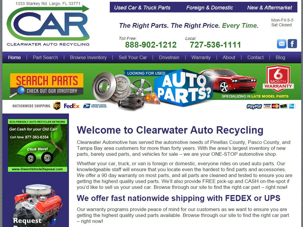Clearwater Auto Recycling Briscoweb