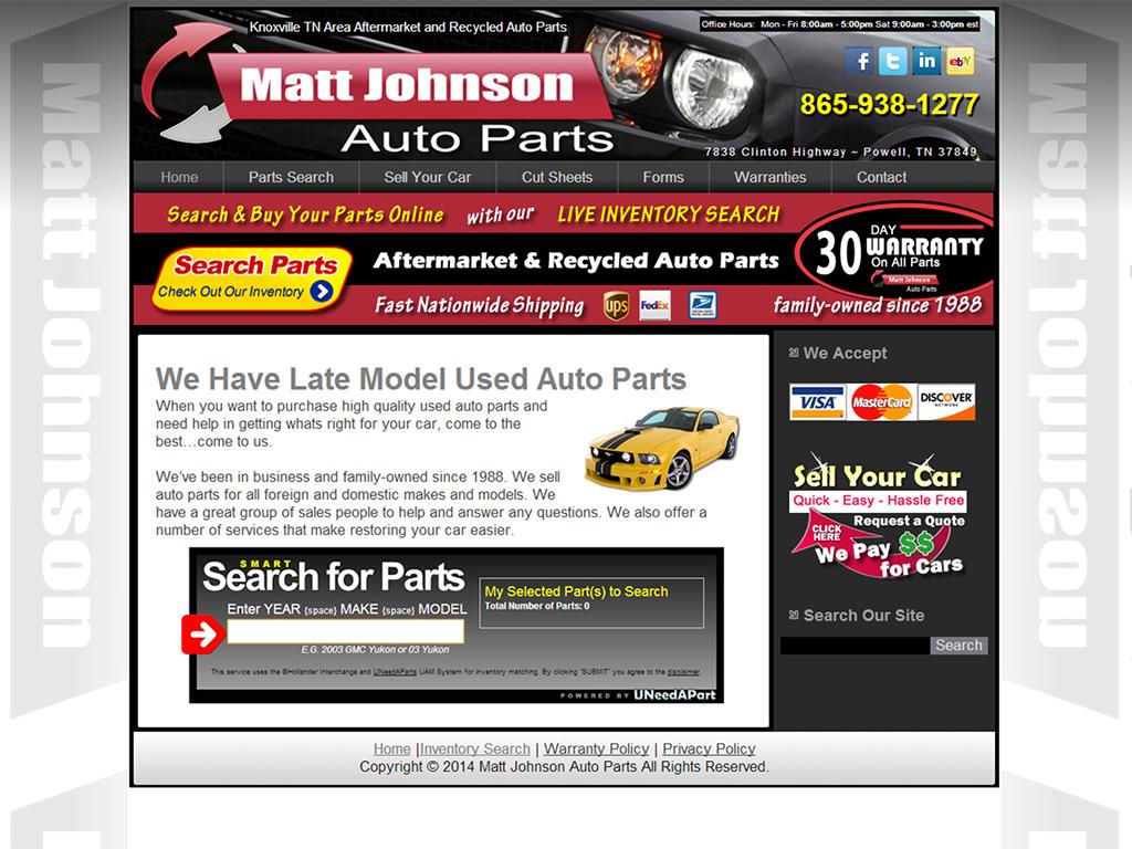Matt Johnson Auto Parts - BriscoWeb