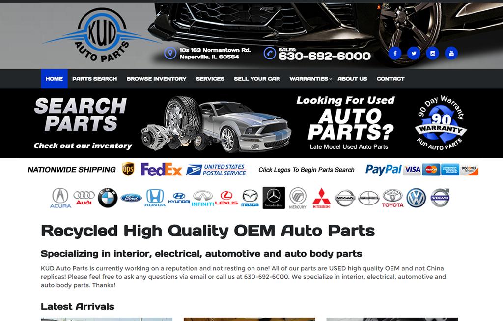 KUD Auto Parts - BriscoWeb